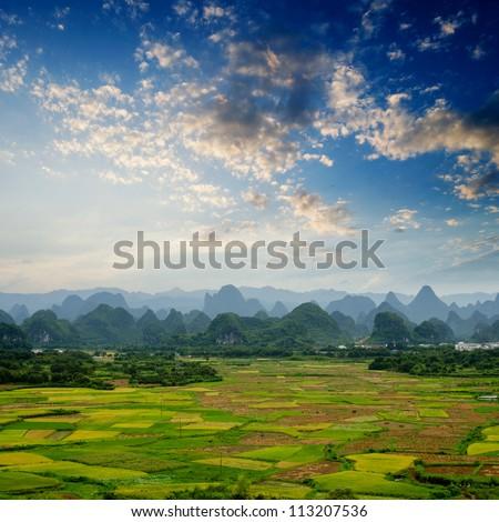 Guilin Beauty in guangxi,china - stock photo