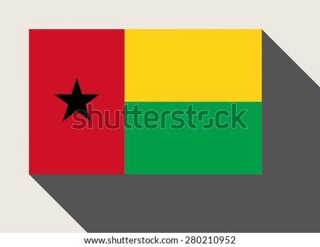 Guinea Bissau flag in flat web design style. - stock photo