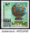 GUINEA - CIRCA 1983: A stamp printed in Republic of Guinea shows airship, circa 1983 - stock photo
