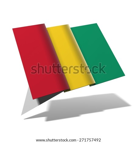 Guinea flag 3D banner - stock photo