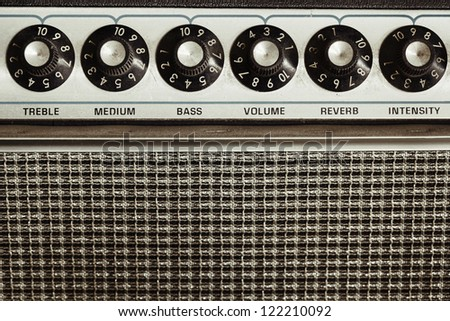 Guitar amplifier - stock photo