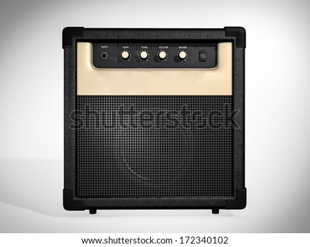 Guitar amplifier. Front view - stock photo
