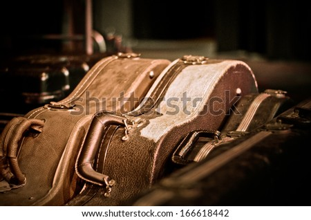 Guitar Cases - stock photo