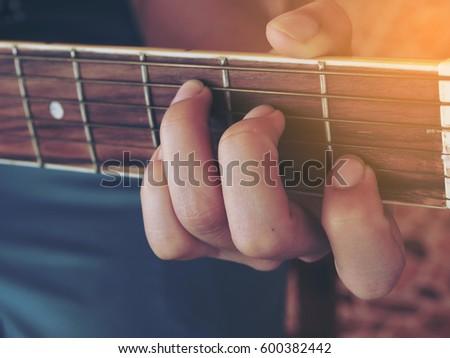 Guitar Chords C Major Stock Photo (Royalty Free) 600382442 ...