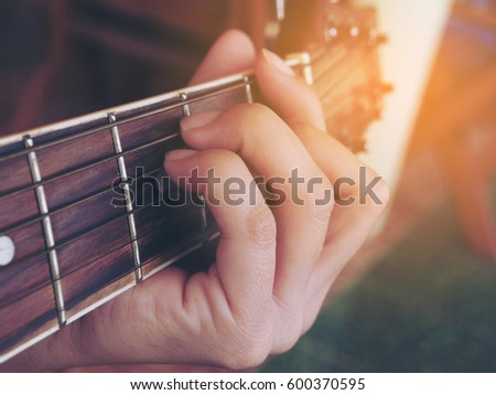 Guitar Chords F Major Stock Photo (Royalty Free) 600370595 ...