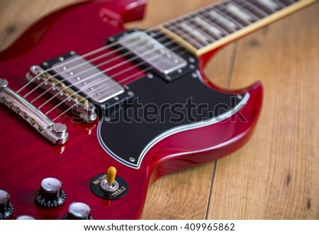 Guitar details - stock photo