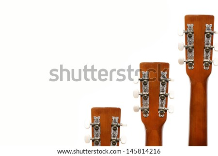 guitar fingerboard tensioners isolated  - stock photo