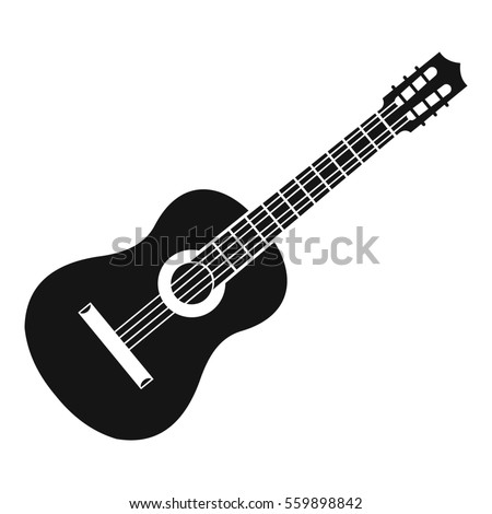 Guitar icon. Simple illustration of guitar  icon for web