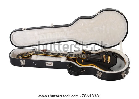 Guitar in a case - stock photo
