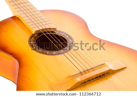 guitar isolated on white background - stock photo