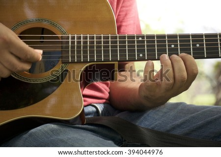 Guitar Lesson  - stock photo
