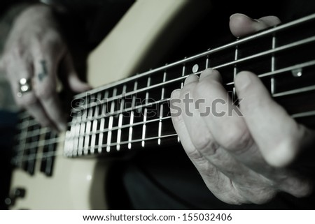 Guitar lessons - stock photo