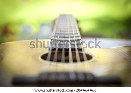 Guitar Macro - stock photo