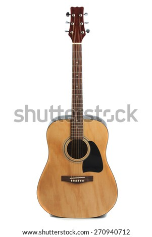 Guitar on a white background. isolation.