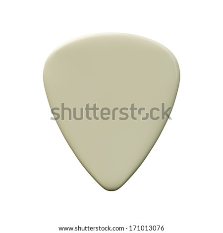 guitar pick isolated on white background - stock photo