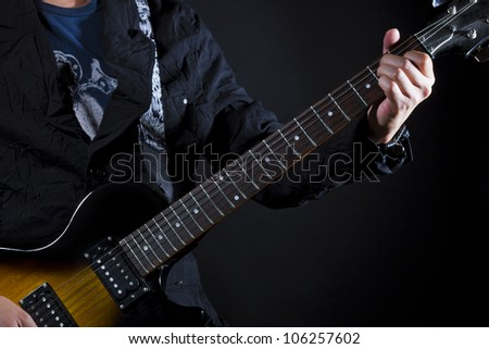 guitar power chords E - stock photo