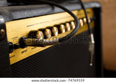 guitar's amplifier - stock photo