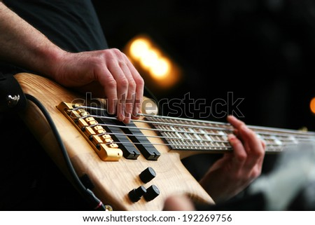 Guitarist in action - stock photo