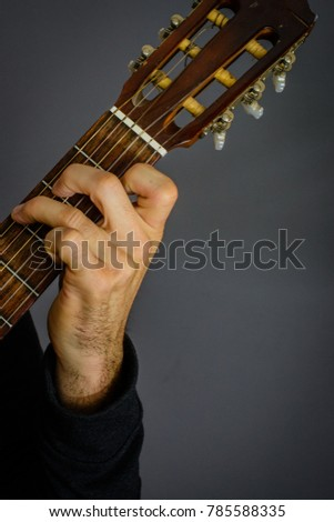 Guitarist Playing G Major Chord On Stock Photo (Edit Now) 785588335 ...