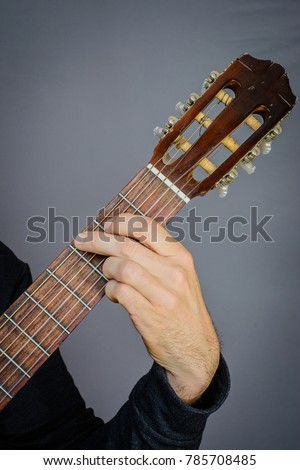 Guitarist Playing G Major Open Chord Stock Photo (Royalty Free ...