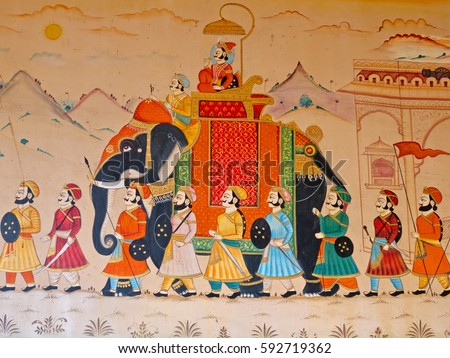 GUJARAT, INDIA   OCTOBER 27, 2016: Wall Art Displaying The Characteristic  Level Of