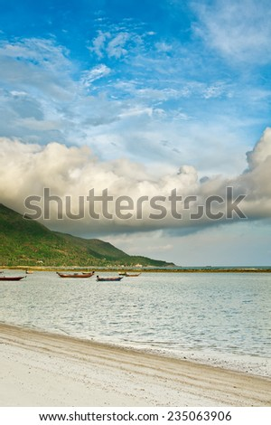 Gulf of Thailand near island of Koh Phangan in South-East Asia. - stock photo