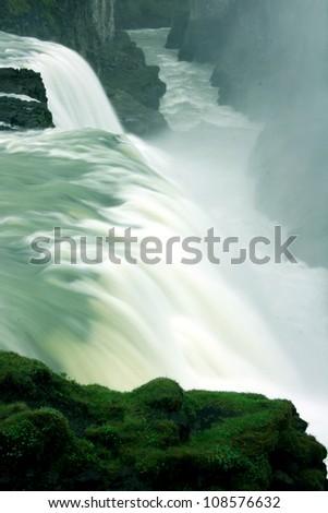 Gulfoss Waterfall, Iceland - stock photo