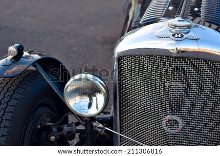 GULLANE, SCOTLAND - SEPTEMBER 5, 2013: Bentley Speed Six was sports and luxury car based on Bentley rolling chassis in production from 1928 to 1930.