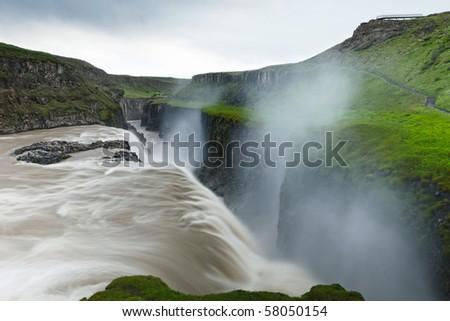 Gullfoss - Iceland - stock photo