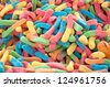 Gummy colorful worms - stock photo