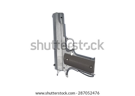 Gun isolated on white background - stock photo