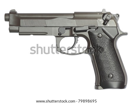 gun isolated on white with clipping path inside