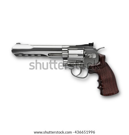 Gun Magnum white background