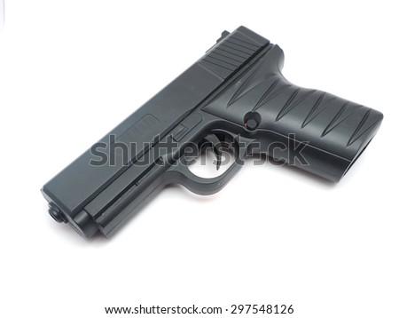 gun on a white background - stock photo