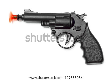 gun on the white background - stock photo