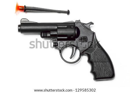 gun on the white background - stock photo
