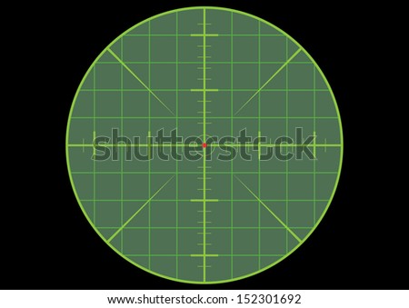 Gun Sight Crosshair - stock photo