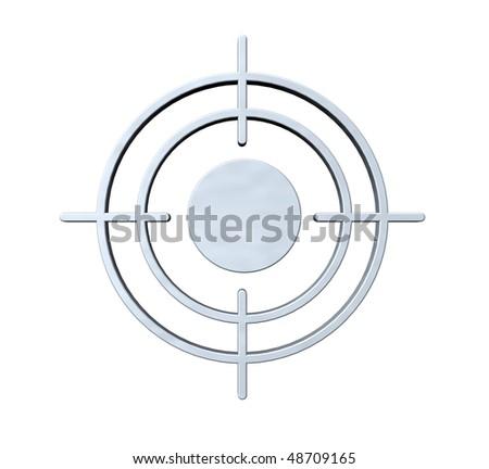 gun sight on white background - 3d illustration - stock photo