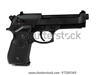 gun turn right isolated on a white background - stock photo