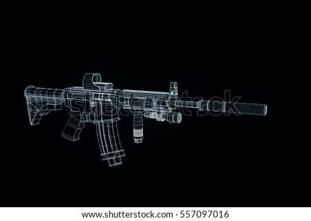 kalashnikov ak47 machine gun stock vector 524134426. Black Bedroom Furniture Sets. Home Design Ideas