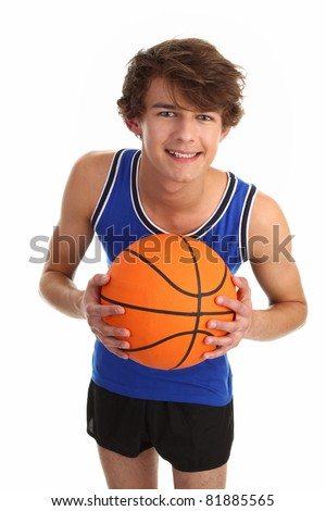 guy leaning forward with basketball