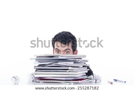 Guy on table - stock photo