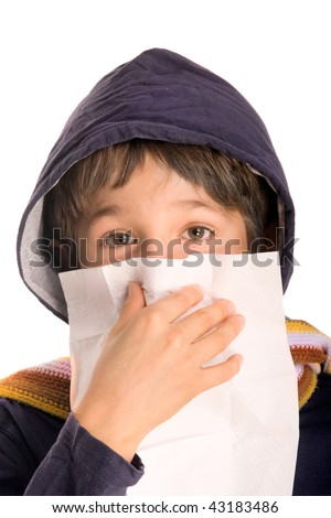 guy with a cold - stock photo