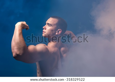 Guy with strong hands - stock photo