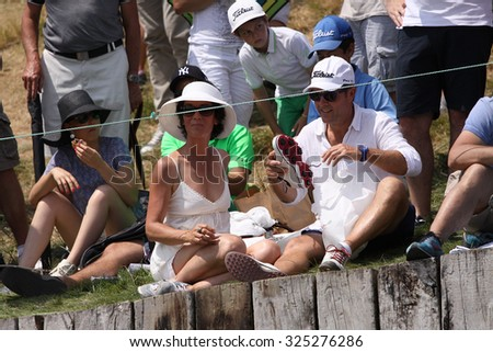 GUYANCOURT , FRANCE, JULY 04, 2015 : Gallery of spectators at the golf French Open, European golf tour, July 04, 2015 at The golf National, Guyancourt, France.
