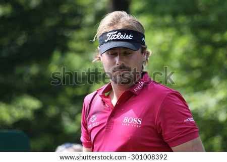 GUYANCOURT, FRANCE, JULY 02, 2015 : Victor Dubuisson  (FRA) at  the golf French Open  , European Tour, july 02, 2015, Golf National, Guyancourt, France.