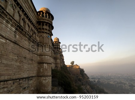 Gwalior Fort, India - stock photo
