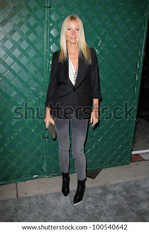 """Gwyneth Paltrow at the """"My Valentine"""" Video Premiere Hosted By Paul McCartney And Stella McCartney, Stella McCartney Boutique, West Hollywood, CA 04-13-12 - stock photo"""