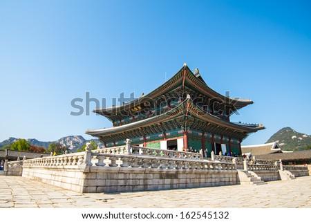 Gyeongbokgung palace in Seoul, Korea - stock photo