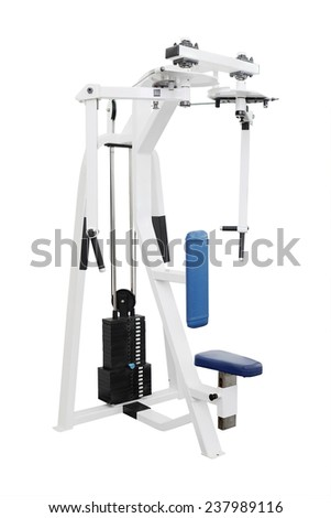 gym apparatus isolated under the white background - stock photo